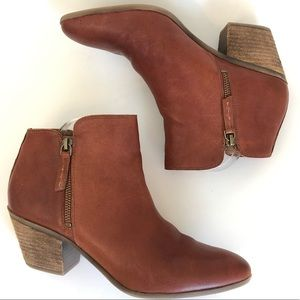 Frye Leather Cognac Ankle Booties size 10